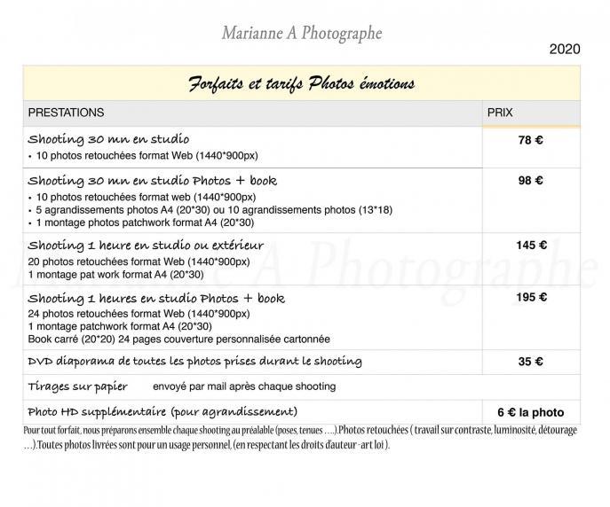 Marianneaphotographe tarifsportraitemotion reveletonlook 2020