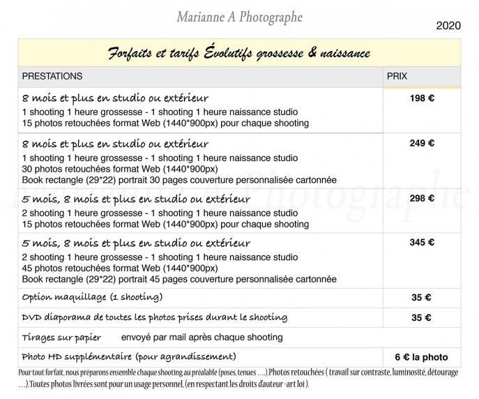 Marianneaphotographe tarifsportraitgrossessenaissance reveletonlook 2020